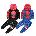 Baby Boys Fashion Sport Clothing Suit,Kids spider-man Cartoon Clothes Cuit,Children Spring Autumn Clothing Suit,Black/Blue