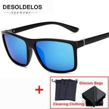 лучшая цена Polarized Men Sunglasses brand designer Retro Square Sun Glasses Accessories Unisex driving goggles oculos de sol 2019