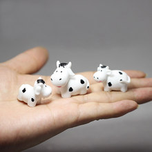 3 Pcs/cow/rabbits/cats/doll house decor/fantasy miniatures/fairy garden gnome/moss terrarium/crafts/bonsai/figurine/diy supplies(China)