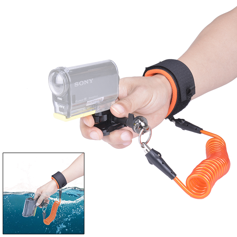 Fantaseal Diving Wrist Strap Underwater Camera Strap Floating for <font><b>Sony</b></font> FDR-X3000 HDR AS300 AS50R AS50 <font><b>AS30V</b></font> AZ1 Sports Camcorder image