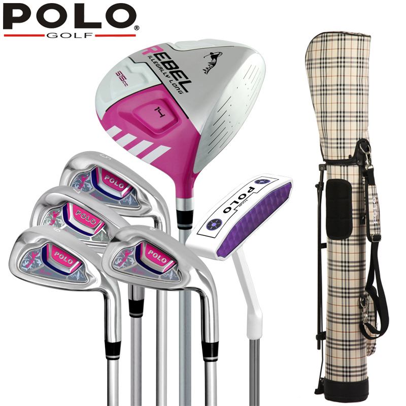 4fe97295a47 Aliexpress.com : Buy Brand POLO 6 piece Womens Ladies Female Girls Half Golf  Clubs Set With Bag for Leaner Beginner Golf Clubs Branded Golf Irons Set  from ...