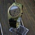 Moda bewell relojes de madera los hombres japón movimiento de cuarzo reloj de pulsera hombres mujeres 100% natural madera relojes relogio masculino