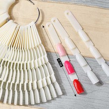 150 Tips Nail Art Bamboo Swatches Stick Display Card Template False Fan Polish Gel Foldable Practice Board Plastic Tools