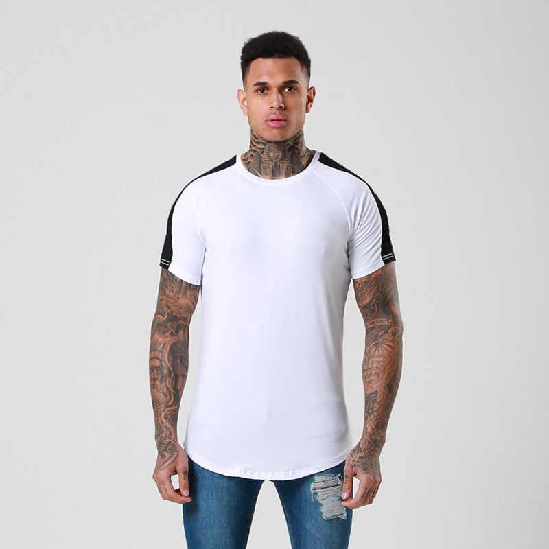 Мужские футболки для бега, Спортивная футболка для фитнеса, мужская спортивная рубашка 2019, дышащие футболки для бега, футболки с коротким рукавом, одежда для тренировок