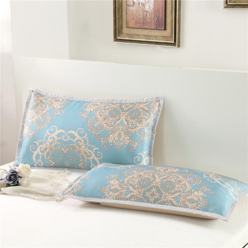 Two pieces/lot Silk Smooth Satin Printing Pillowcase 45