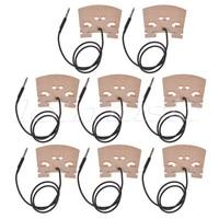Electric Violin Bridge with Internally piezo Pickup for 4/4 Violin Bridge 8Pcs