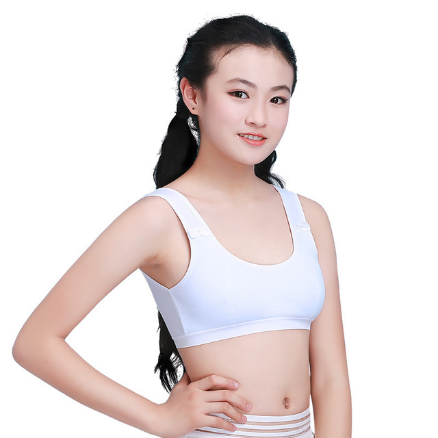 4396740cb0376 Cotton Girl Training Bra Kids Underwear Young Girls Sports Bras Teenage  Teen Lingerie Brassiere Enfant Sous Vetement Femme