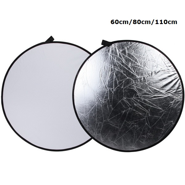 SUPON Portable 60CM 80CM 110CM Silver/White 2 in 1 Collapsible Light Round Photography Reflector for Studio Multi Photo Disc SUPON Portable 60CM 80CM 110CM Silver/White 2 in 1 Collapsible Light Round Photography Reflector for Studio Multi Photo Disc