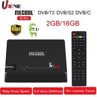 MECOOL KI PRO Декодер каналов кабельного телевидения Android 7,1 ТВ коробка K1PRO DVB S2 + T2 Amlogic S905D Quad 2G + 16G DVB-T2 и S2/DVB-T2/DVB S2 DVB-C