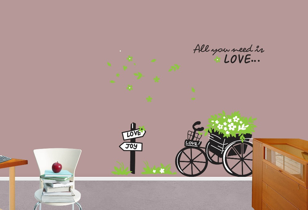 Wall Stickers All You Need Is Love All You Need Is Love Wall Art ...
