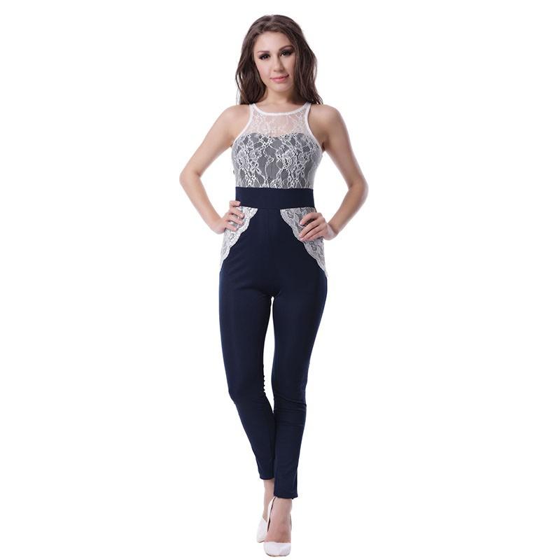 fc51ebde0 RI70199 Best Selling Bodysuit Macacão de Renda Patchwork Mulheres ...
