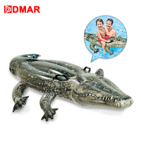 DMAR 170cm 67 Inflatable Crocodile Giant Pool Float Toys Kids Inflatable Mattress Buoy Swimming Ring Beach Sea Party Unicorn
