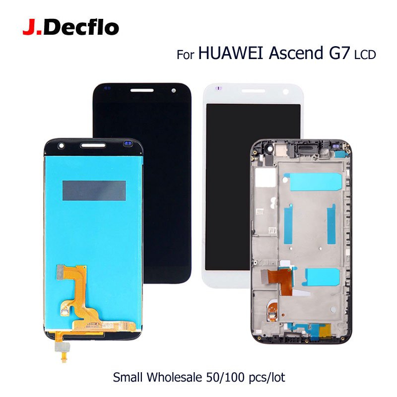 50/100 pcs/lot For HUAWEI Ascend G7 LCD Display+Touch Screen Digitizer Assembly Replacement Parts with/no Frame Original 5.550/100 pcs/lot For HUAWEI Ascend G7 LCD Display+Touch Screen Digitizer Assembly Replacement Parts with/no Frame Original 5.5