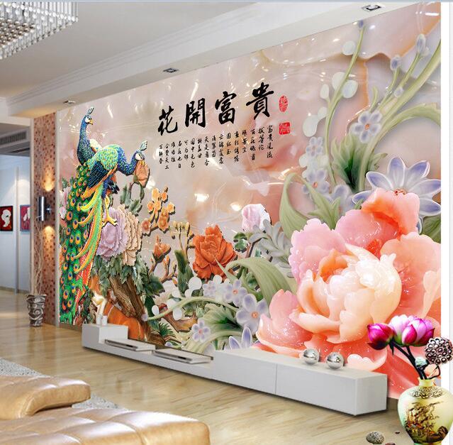 ᗕ3D papel pintado personalizado mural no tejido pegatinas de pared ...