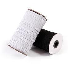 Sıcak satış 10 metre dikiş elastik bant beyaz siyah yüksek elastik fiat lastik bant bel bandı dikiş streç halat 5BB5628