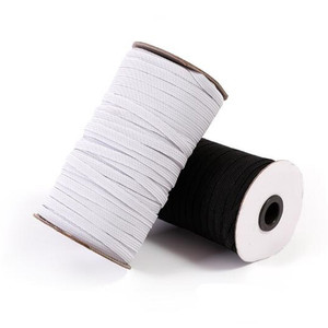 Hot sell 10yards sewing elastic band white black high elastic fiat rubber band waist band Sewing Stretch Rope 5BB5628(China)