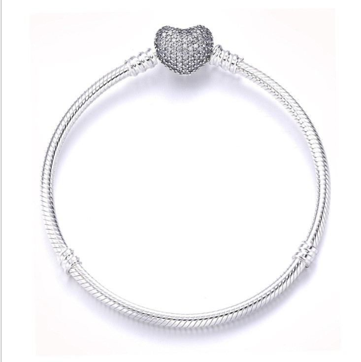 2019 wholesale 100% 925 Sterling Silver Chain Charm Beads Fit Original Bracelet for Women Authentic Jewelry Fine  Gift 2019 wholesale 100% 925 Sterling Silver Chain Charm Beads Fit Original Bracelet for Women Authentic Jewelry Fine  Gift