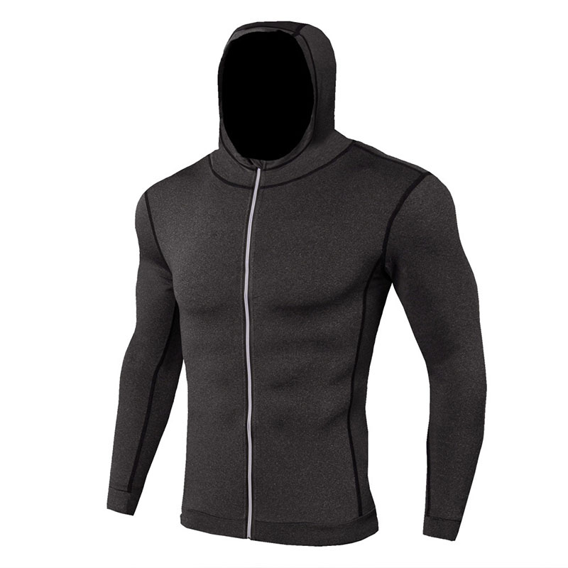 Termal Tshirt Long Sleeve Men Clothes For Men Hooded Zip Sport Thermal Underwear Quick Dry Fitness Underwear Men Tecnologia Para