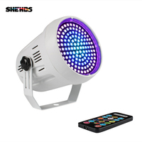SHEHDS LED 127 RGB Mixed Colors White Strobe Disco for Festival Parties Music Club Remote Sound Flash Effect Stage Lighting