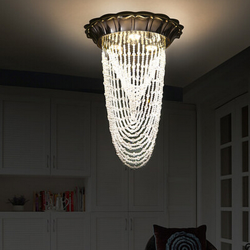 New Design Chrome K9 Modern Crystal Chandelier Hallway Lights Aisle Lamp Re Led Light Fixtures In Chandeliers From Lighting On Aliexpress Com