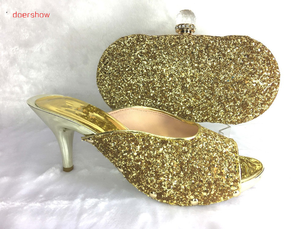 doershow african shoe and bag set for party italian shoe with matching bag new design ladies matching shoe and bag italy!HWE1-3