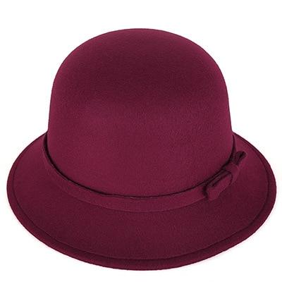 [DINGDNSHOW] 2019 Moda Fedora Şapkalar Vintage Yün Yetişkin Keçe - Elbise aksesuarları - Fotoğraf 2
