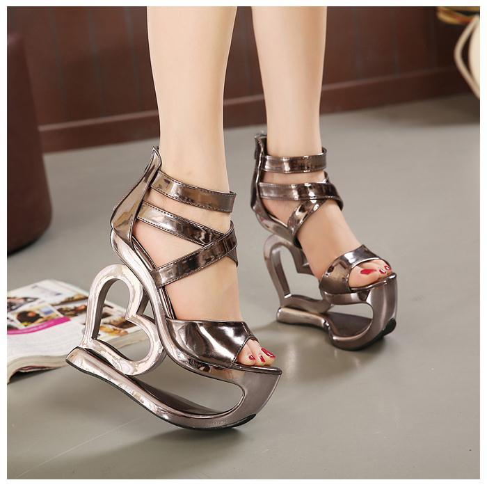 16be6d21f79fd NEW Fashion Summer Platform Wedge Thick Sole Peep Toe Women Sandals Stylish  Girls Wedge Sandals High Heels Shoes  F221