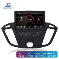 JDASTON Android 9.1 Car DVD Player For Ford Tourneo/Transit 150/250/350/350 WIFI GPS Navigation 2Din Car Radio Stereo Multimedia