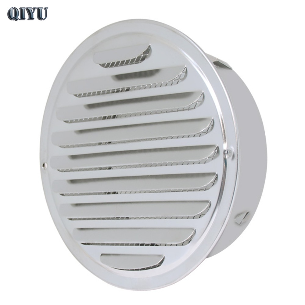 70mm~200mm Outside The Flat Stainless Steel Exhaust Outlet,201# 304# Stainless Steel Exhaust Vent Outlet Rainhat ,vents
