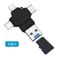 4 en 1 Multi tipo OTG C teléfono móvil unidad Flash USB 3,0 para Android de Apple tipo C USB 3,0 16GB 32GB 64GB 128GB memoria Flash