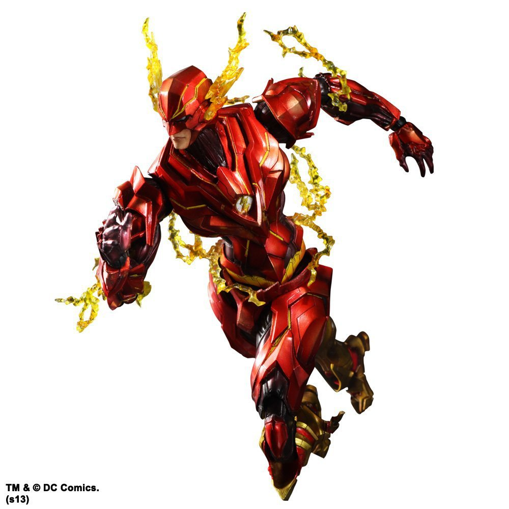 2016 1pcs 25CM pvc Japanese anime figure PLAY ARTS The Flash action figure collectible model toys brinquedos hot 1pcs 28cm pvc japanese sexy anime figure dragon toy tag policwoman action figure collectible model toys brinquedos