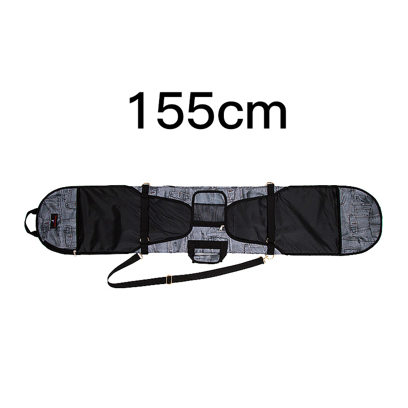Лыжный Спорт Сумки; специальное предложение; Модные женские джинсовые шпон доска набор для пельменей для катания на сноуборде сумка для катания на сноуборде Анти-Царапины шпон Защитная крышка - Цвет: Оранжевый