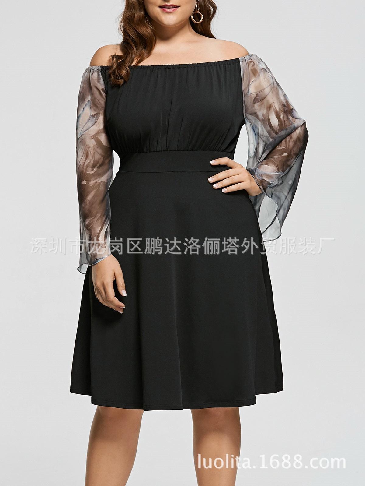 Long Sleeve Autumn Winter Cocktail Dresses Elegant...