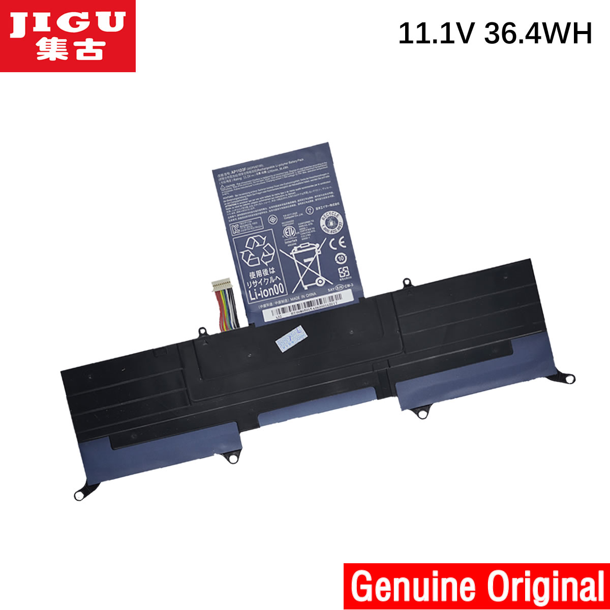 JIGU 3ICP5/65/88 3ICP5/67/90 <font><b>AP11D3F</b></font> AP11D4F Original Laptop Battery For ACER Aspire S3 S3-391 S3-951 MS2346 image