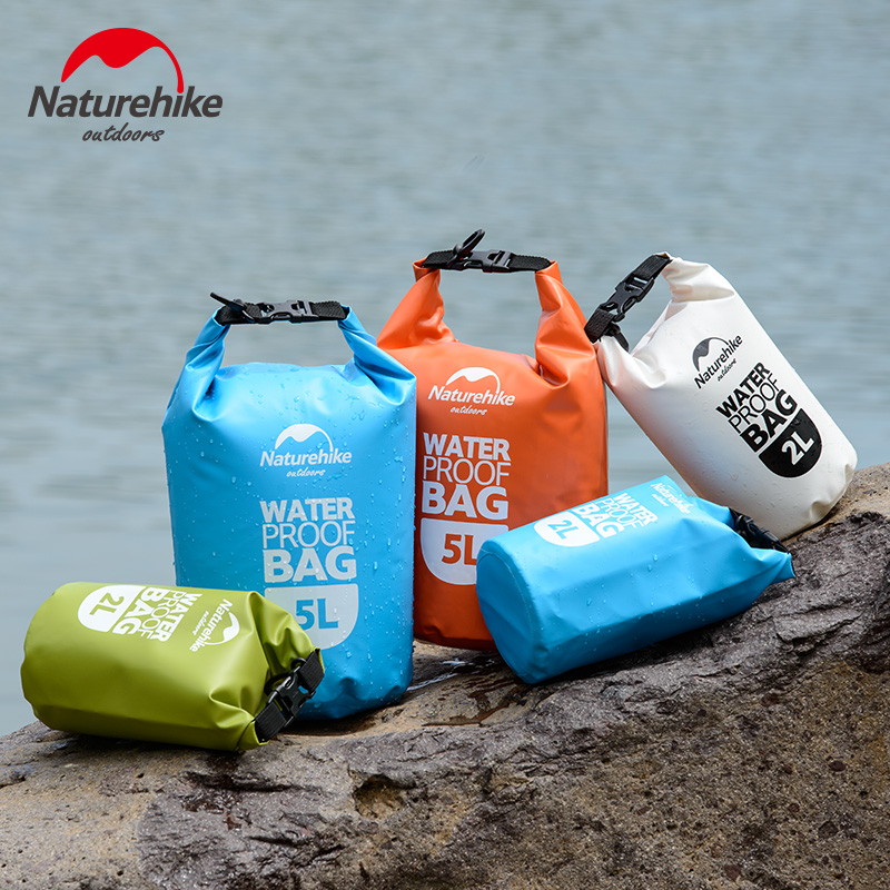 NatureHike 2L 5L High Quality Outdoor Waterproof Bags Ultralight Camping Hiking Dry Organizers Drifting Kayaking Sac Etanche