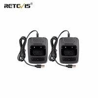 מכשיר הקשר Li-ion USB 2pcs מטען סוללות רדיו 100-240V עבור Retevis H777 H777 Baofeng BF-666S BF-777s BF-888S מכשיר הקשר מטען (1)