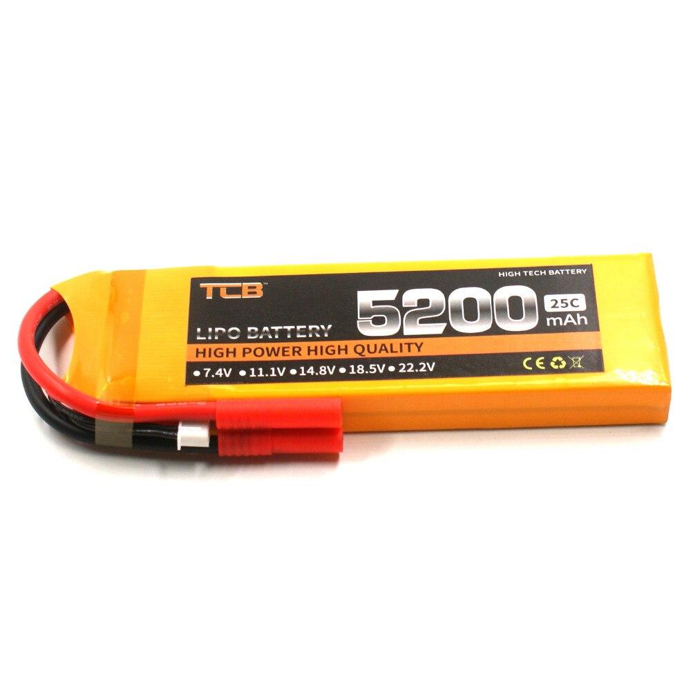 TCB RC ड्रोन लिपो बैटरी 7.4v 5200mAh 25C - रिमोट कंट्रोल के साथ खिलौने