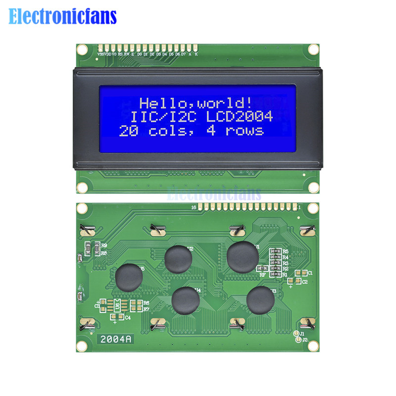 2Pcs New 2004 204 20X4 Character LCD Display Module Blue Blacklight