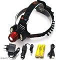 8000 Lúmen XM-L T6 + 2COB CONDUZIU a Lanterna de Cabeça Recarregável 4 Modo Farol Lanterna Head Light + 2x18650 baterias carregador de Carro + USB