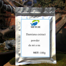 цена на Damiana extract herb leaf muira puama plant governors 100-1000g high quality powder of da mi a na enhancing sexuality promotion.
