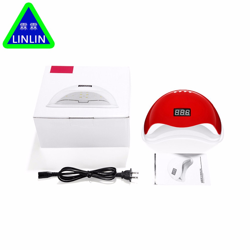 LINLIN Gel Nail Dryer Lamp 48W White Light Profession Manicure LED UV Dryer Lamp Fit Curing All Nail Polish Massage & RelaxationLINLIN Gel Nail Dryer Lamp 48W White Light Profession Manicure LED UV Dryer Lamp Fit Curing All Nail Polish Massage & Relaxation