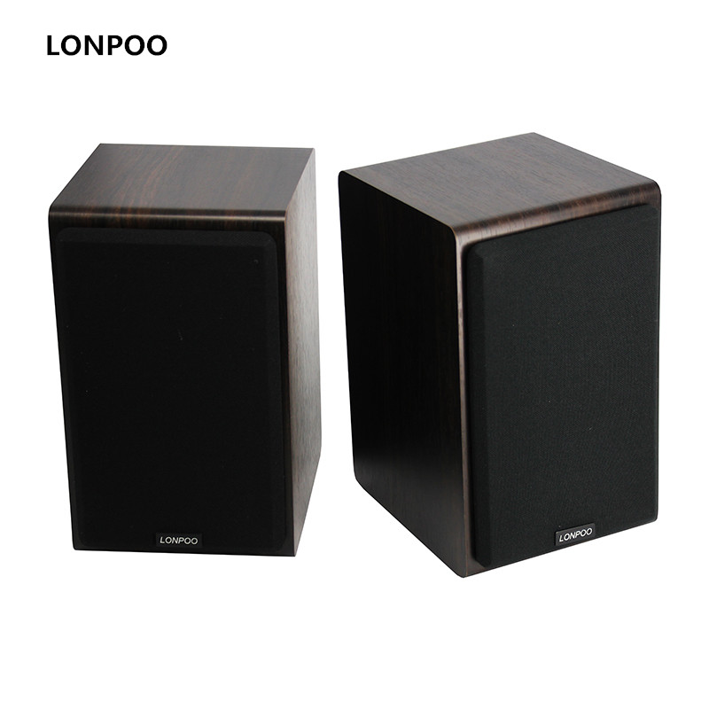 цена на LONPOO New Bluetooth Speakers Hifi Stereo Loudspeaker Wooden Speakers AUX Speakers 75 Watts Subwoofer for Computer/Phone