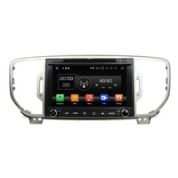 8 Android 8.0 Car Stereo Radio DVD GPS Navigation for Kia Sportage 2016 4GB RAM Bluetooth WIFI USB DVR Mirror link IPS Screen