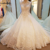 LS79210 Sexy Weddings Dress 2017 See Trough Back Sleeveless Ball Gown Mariage Lace Arab Wedding Gowns