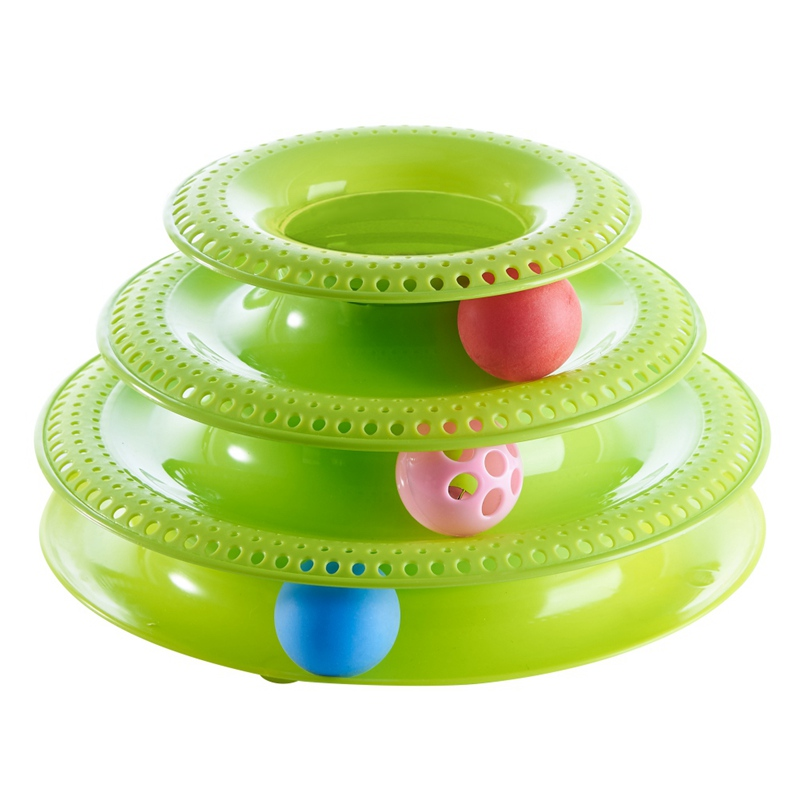 Top Quality Funny Cat Pet Toy Cat Toys Intelligence Triple Play Disc Cat Toy Balls Ball Toys Pets 3/4 Layers Scratcher For Cats