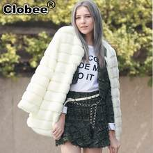 Casaco Feminino Girl Faux Fur Coat Jackets Pink Fur Outerwear Lady Winter Long Sleeve Fur Jacket Furry Fur Top(China)