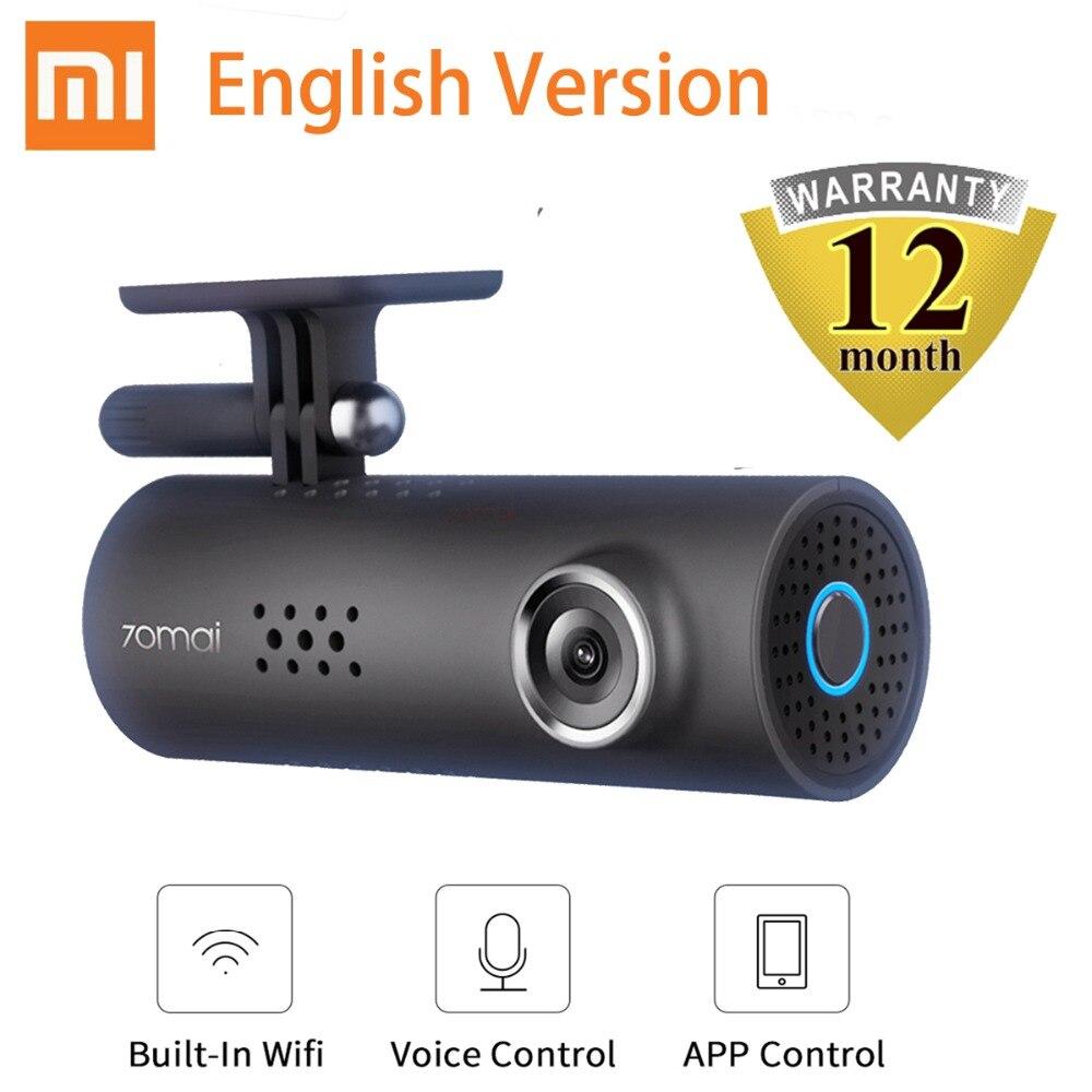 лучшая цена Xiaomi 70Mai Smart Car Dash Cam 1080HD DVR Night Vision 130-degree Angle Cam Recorder Car IMX323 Voice Control