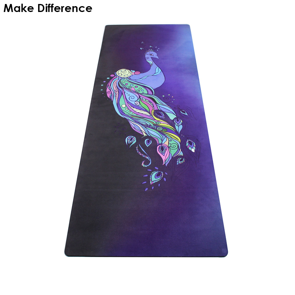 Make Difference Phoenix Printed Outdoor Yoga Pilates Mat Natural Rubber Non-slip Gym Sport Mat Fitness Carpet 183cm*61cm*3.5mm yoga pilates mat pu 5mm for beginners and seniors widened workout yoga pilates gym exercise fitness gym mat