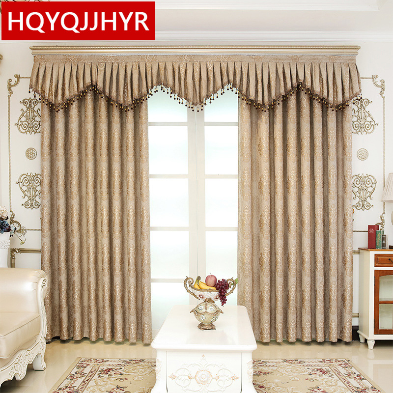 US $10.69 55% OFF High quality European jacquard blackout curtains for  Bedroom windows Classic luxury high end custom curtains for Living Room-in  ...