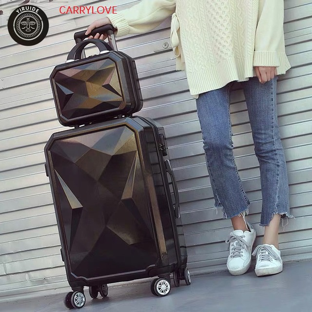 CARRYLOVE 2PC/SET Lovely 20/24/26/28inch PC Handbag and  Rolling Luggage Fashion, high quality  Travel Suitcase